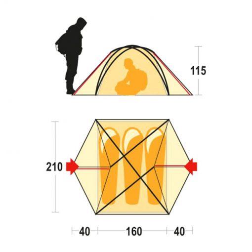چادر کوهنوردی سه نفره فرینو آریل - Ferrino Aerial 3 Tent