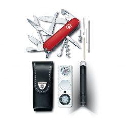 ست مسافرتی چاقوی چندکاره، قطب نما، کیف و چراغ قوه ویکتورینوکس – Victorinox Traveller Set – 1.8726