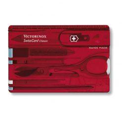 سوییس کارت 10 کاره قرمز شفاف ویکتورینوکس – Victorinox Swiss Card – 0.7100.T