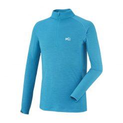 بلوز لایه اول میلت – رنگ آبی – Millet C Wool Blend 150 Zip LS – miv 7003