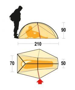 Ferrino Nemesi 1 tent 1 1 247x296 - چادر کوهنوردی 1 نفره نمسی فرینو - Ferrino Nemesi 1 tent
