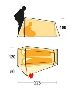 Ferrino tent lighttent 2 3 247x296 - چادر کوه نوردی دو نفره فرینو لایتنت 2 - Ferrino Lightent 2 tent