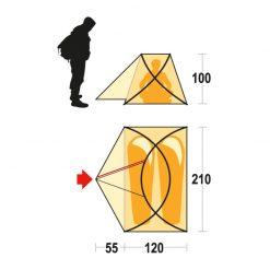 چادر کوهنوردی  زمستانه دونفره فرینو موریک – Ferrino Maverick 2 Tent