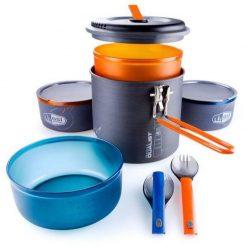 ست ظرف غذا و سرشعله 2 نفره جی اس آی GSI Halulite Microdualist Completes